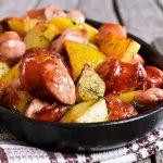 peceni krumpiri s kobasicama